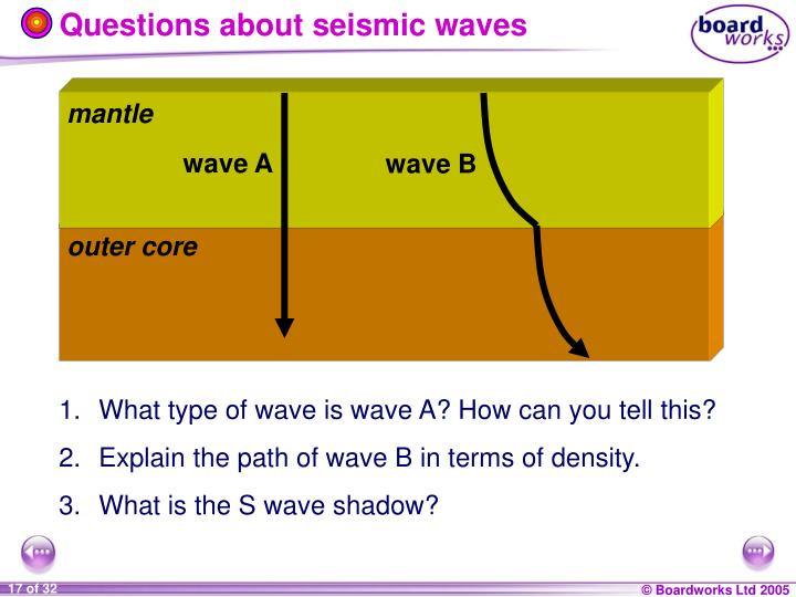 Questions about seismic waves