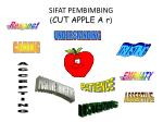 sifat pembimbing cut apple a r