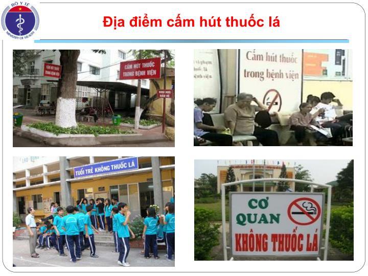 Địa điểm cấm hút thuốc lá