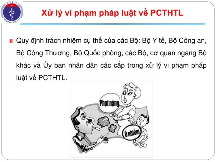 Xử lý vi phạm pháp luật về PCTHTL