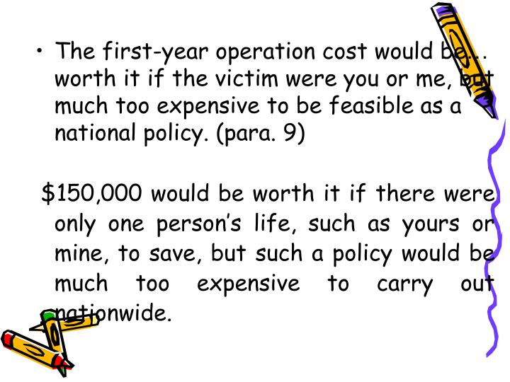The first-year operation cost would be