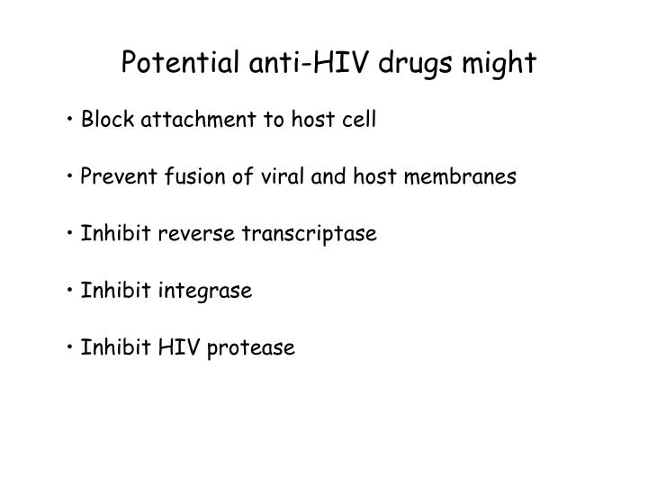 Potential anti-HIV drugs might