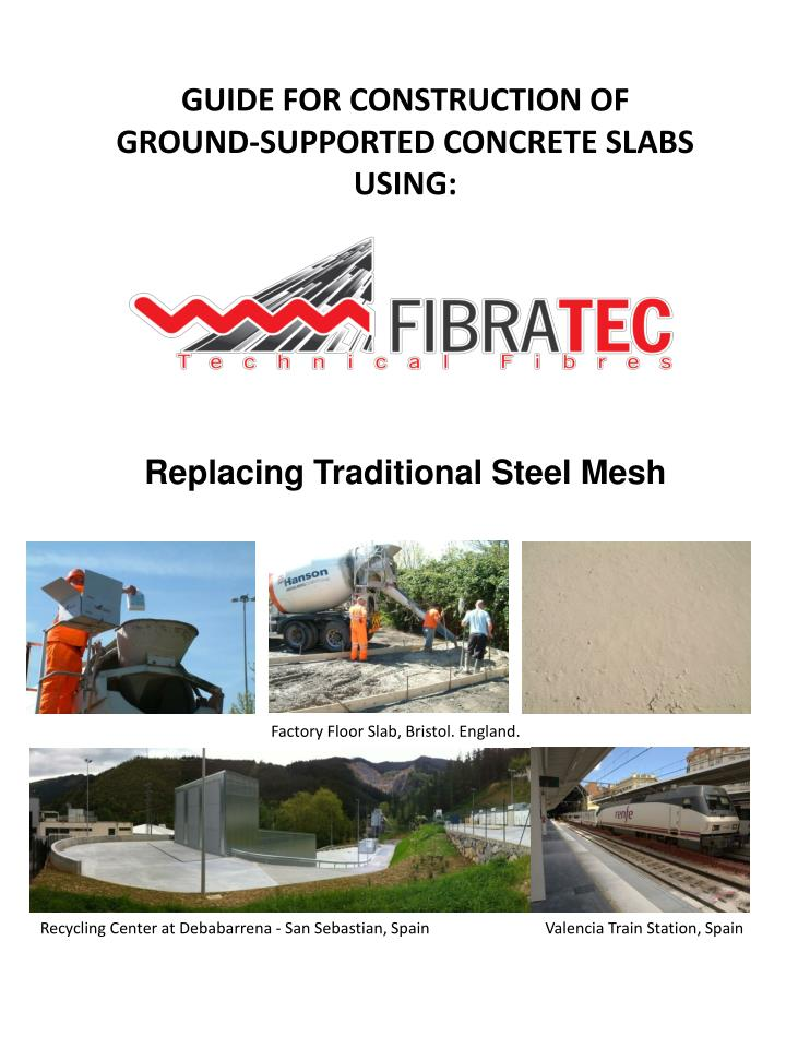 guide for construction of ground supported concrete slabs using