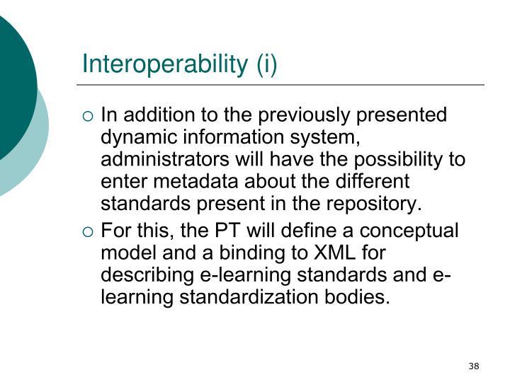 Interoperability (i)