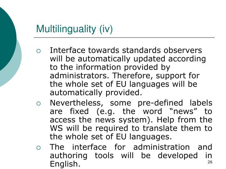 Multilinguality (i