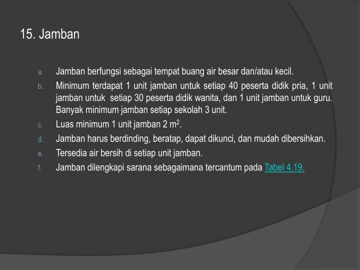 15. Jamban