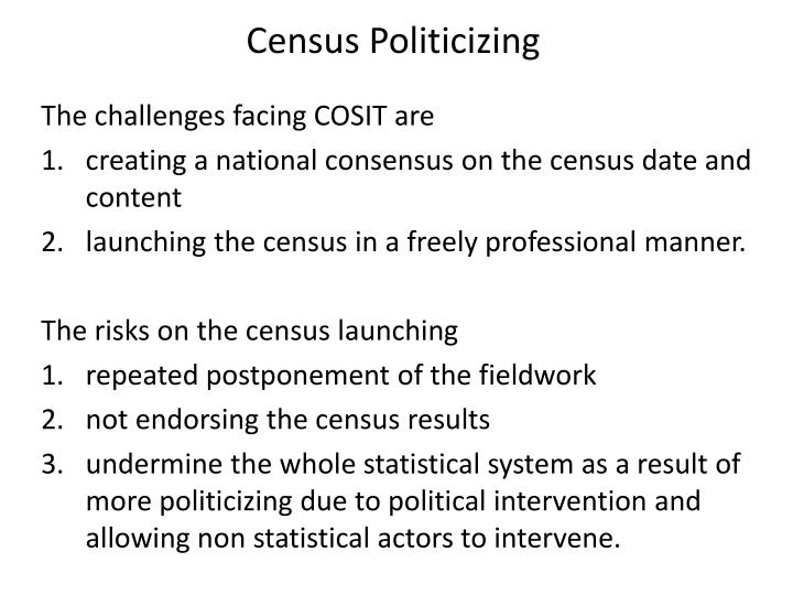 Census Politicizing