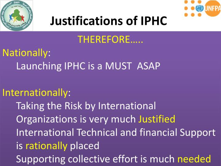 Justifications of IPHC