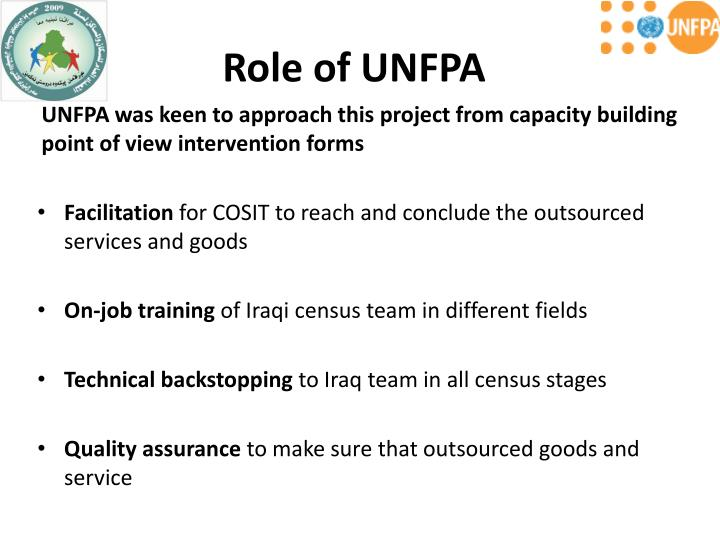Role of UNFPA
