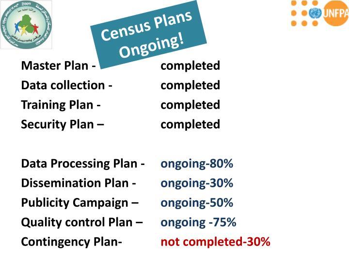 Census Plans