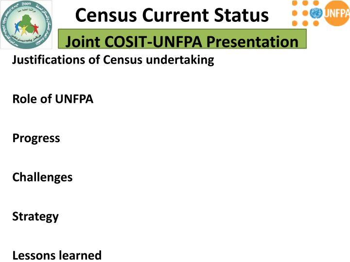 Census Current Status