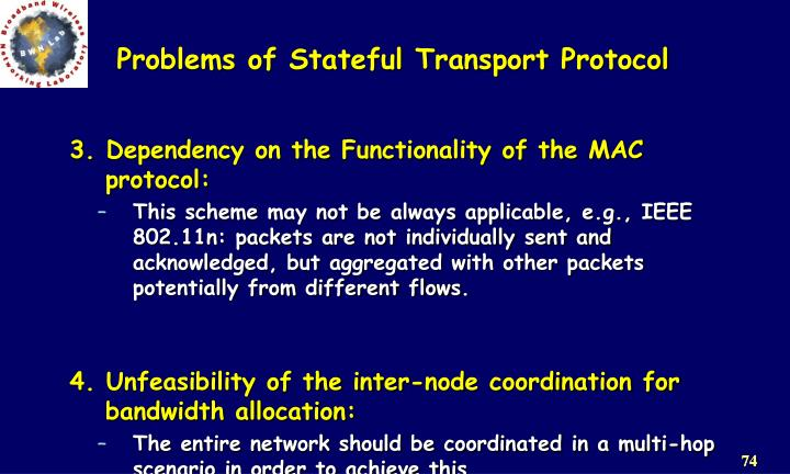 Problems of Stateful Transport Protocol