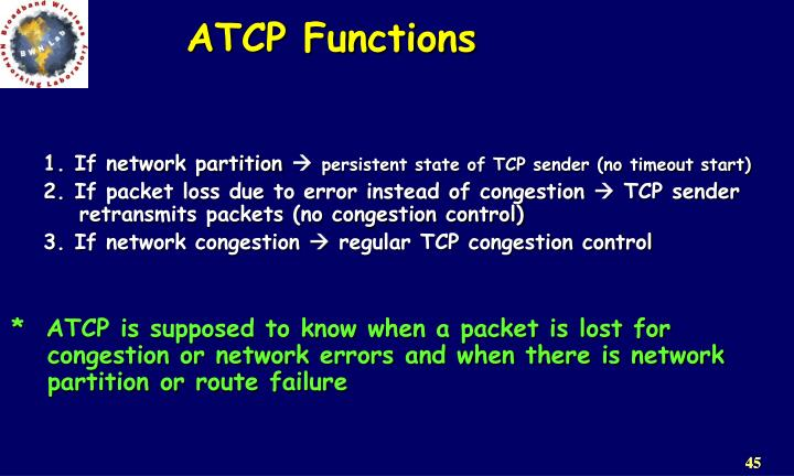 ATCP Functions