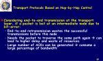 transport protocols based on hop by hop control1