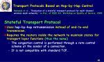 transport protocols based on hop by hop control2