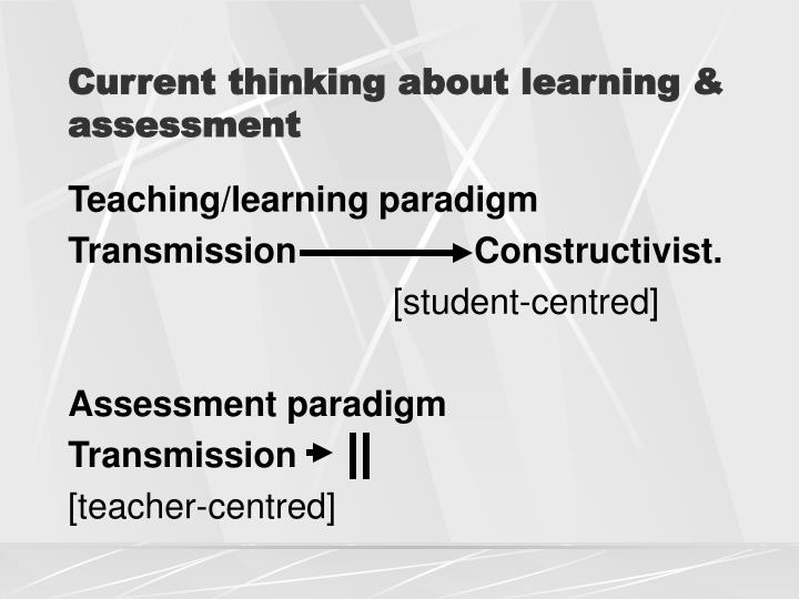 Current thinking about learning & assessment