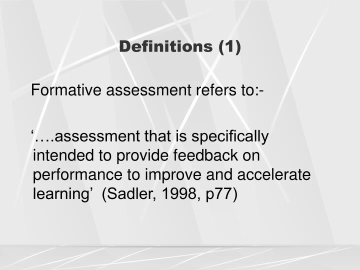 Definitions 1