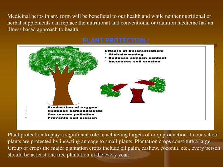 Medicinal herbs in any form will be beneficial to our health and while neither nutritional or