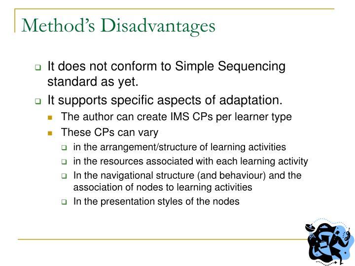 Method's Disadvantages