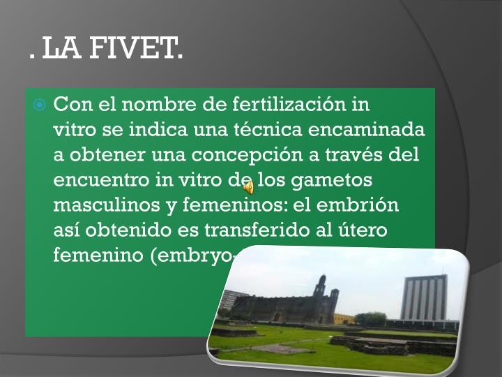 . LA FIVET.