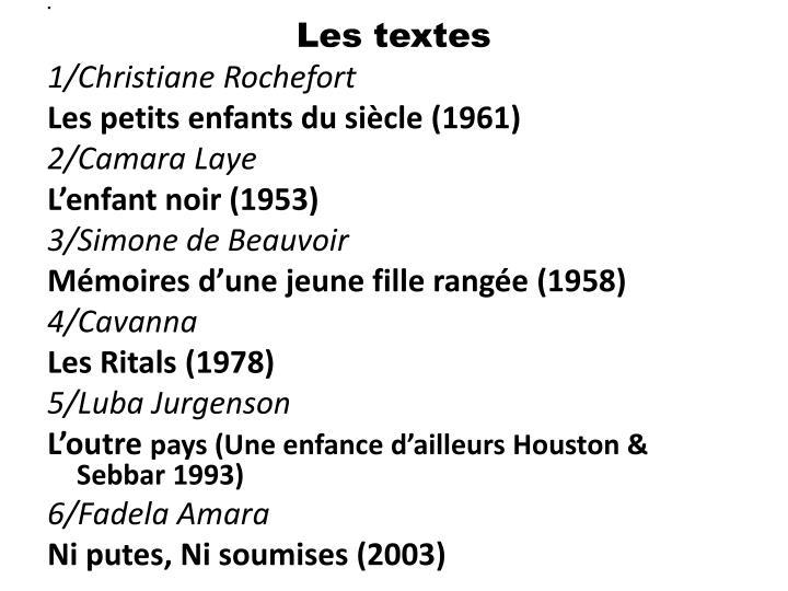 Les textes