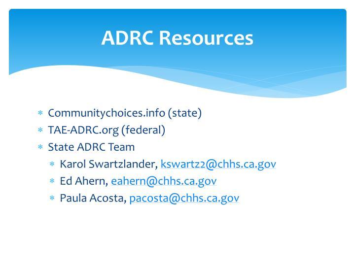 ADRC Resources