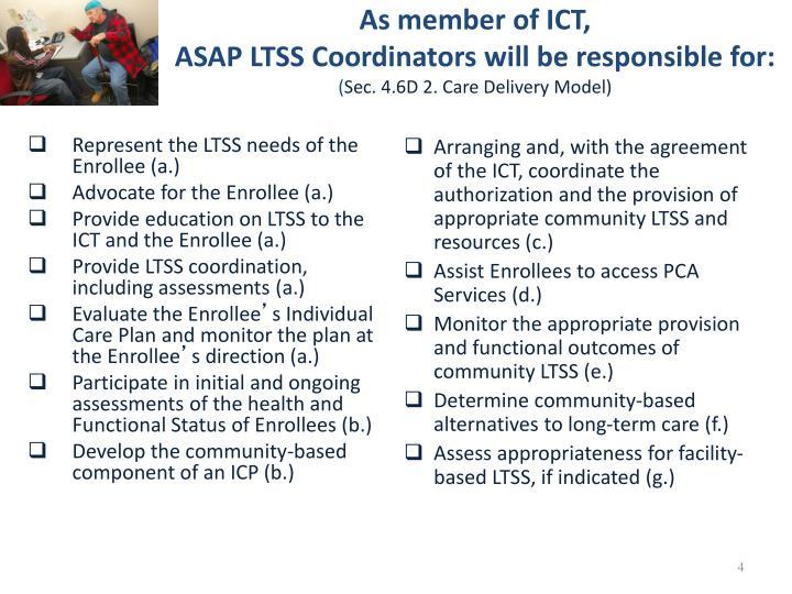 As member of ICT,