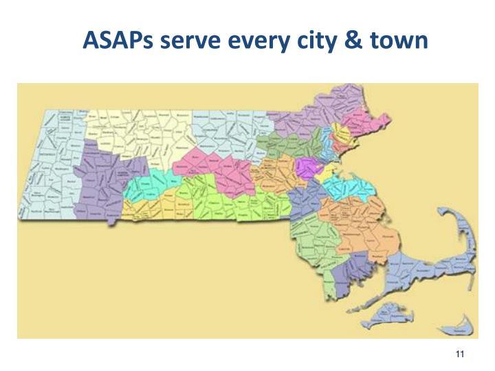 ASAPs serve every city &