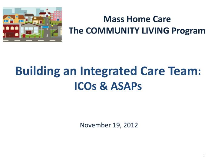 Building an integrated care team icos asaps