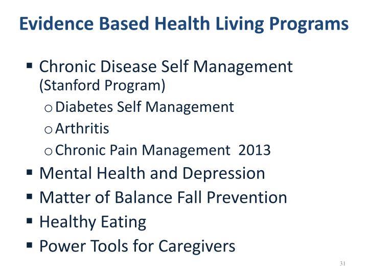 Evidence Based Health Living Programs