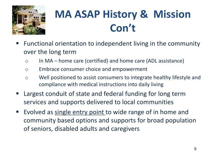MA ASAP History &  Mission Con