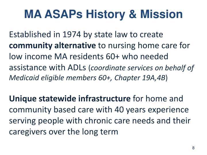 MA ASAPs History & Mission