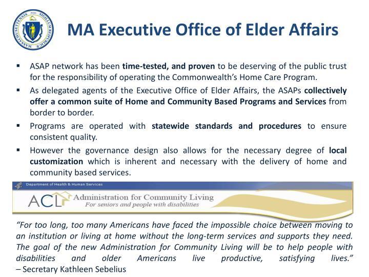 MA Executive Office of Elder Affairs