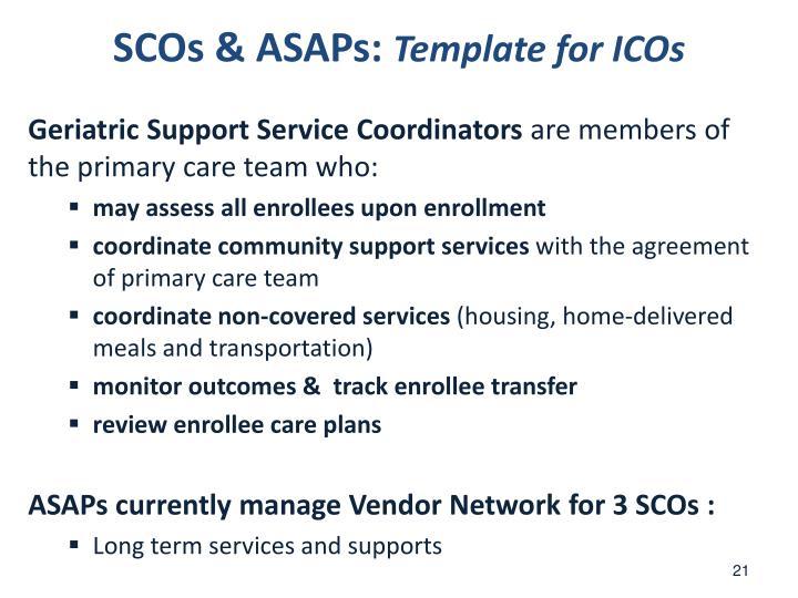 SCOs & ASAPs: