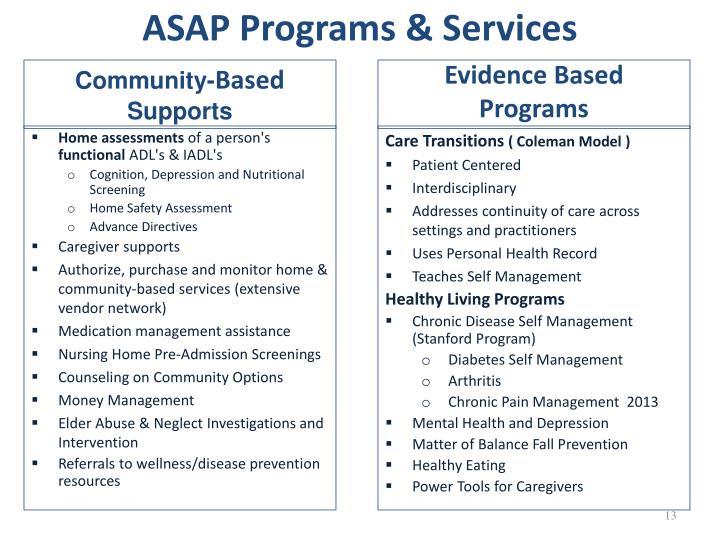 ASAP Programs & Services