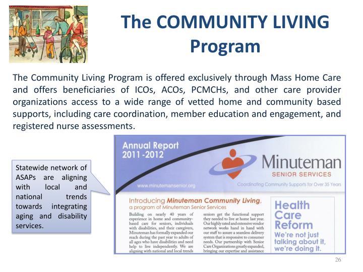 The COMMUNITY LIVING Program