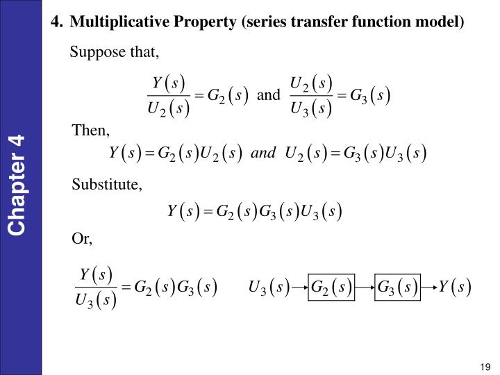 Multiplicative Property (series transfer function model)