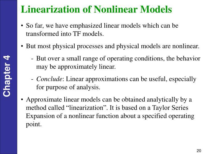 Linearization of Nonlinear Models