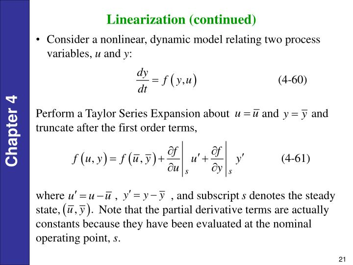 Linearization (continued)