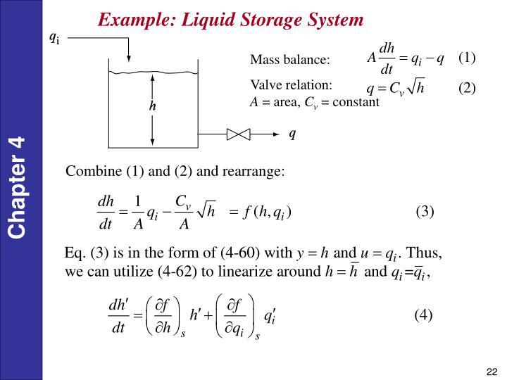 Example: Liquid Storage System