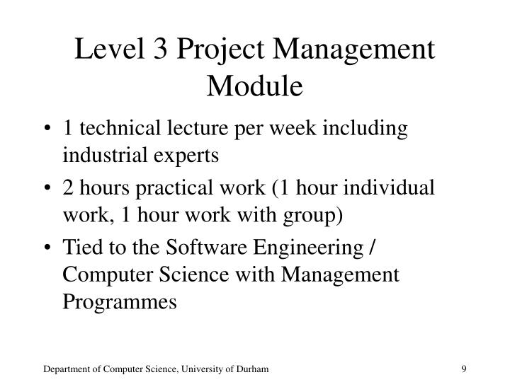 Level 3 Project Management Module