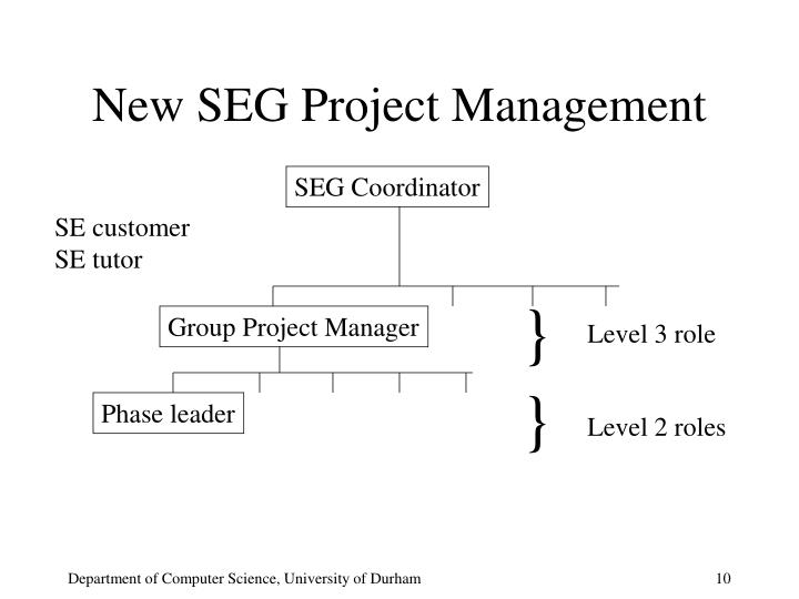 New SEG Project Management