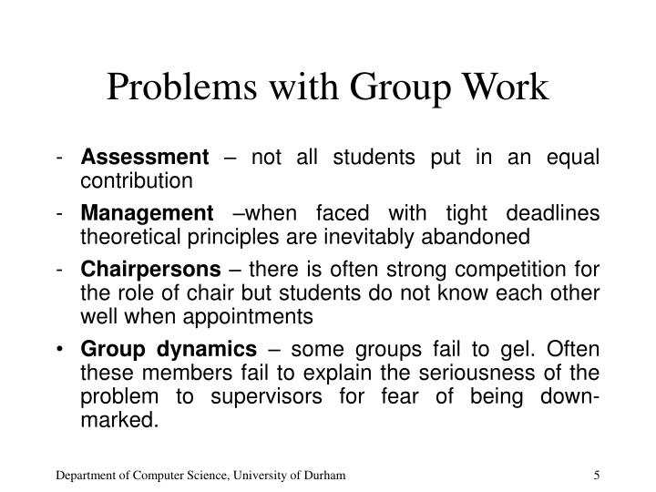 Problems with Group Work