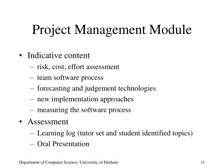 Project Management Module