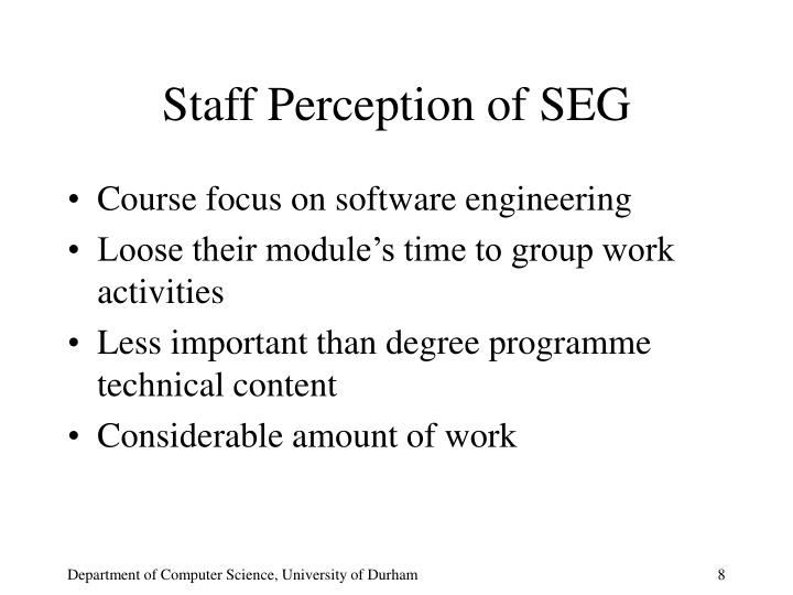 Staff Perception of SEG