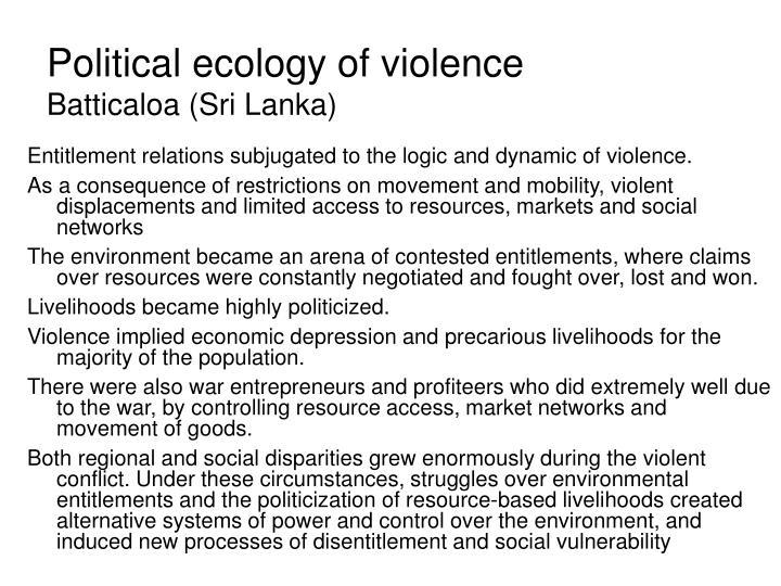 political violence in sri lanka Sri lanka: un condemns anti-muslim violence under-secretary-general for political affairs jeffrey feltman told the sri lankan government the people behind the.