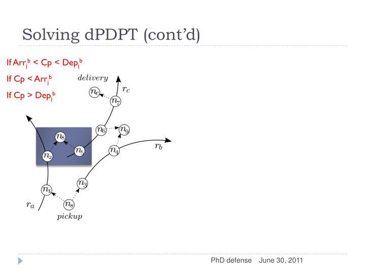 Solving dPDPT (cont'd)