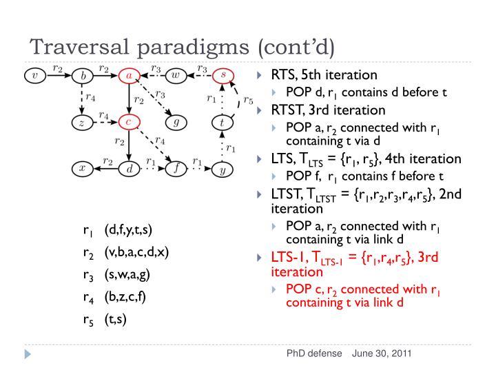 Traversal paradigms (cont'd)