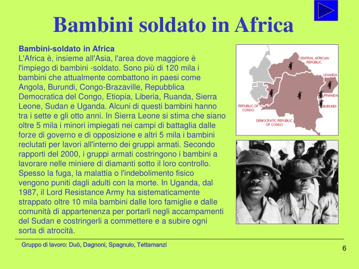 Bambini soldato in Africa