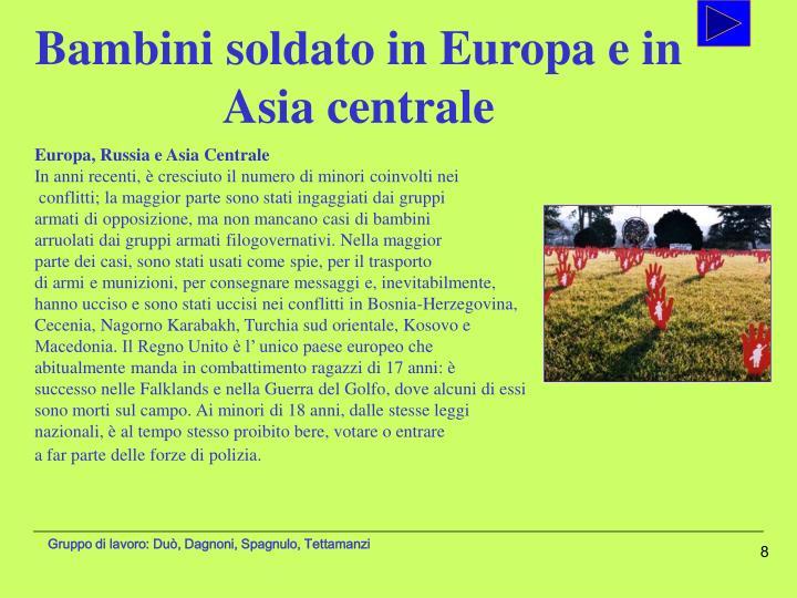 Bambini soldato in Europa e in Asia centrale
